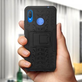 Stoßfeste Schutzhülle + Standfunktion für Huawei P Smart Plus - Schwarz - Vorschau 3