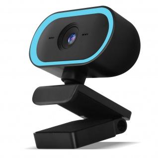 PC / Computer 2K 1440P USB-Webcam mit Mikrofon, Stativ ? Blau