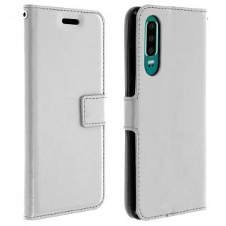 Flip Stand Cover Brieftasche & Standfunktion für Huawei P30 - Weiß