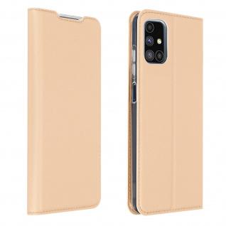 Klappetui mit Kartenfach & Standfunktion Samsung Galaxy M51 ? Rosegold