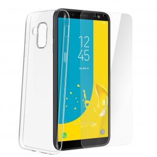 Samsung Galaxy J6 Schutz-Set - transparente Hülle + Glas-Displayschutzfolie