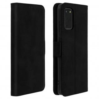 Klapphülle mit Kartenfächer / Standfunktion für Samsung Galaxy S20 - Schwarz