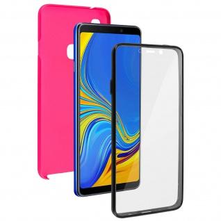 Schutzhülle für Samsung Galaxy A9 2018, Vorder- + Rückseite ? Rosa