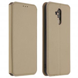 Flip Kunstleder Cover Geldbörse Classic Edition Huawei Mate 20 Lite - Gold
