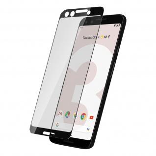 Displayschutzfolie aus Glas Google Pixel 3, bruchsicher & kratzfest - Schwarz