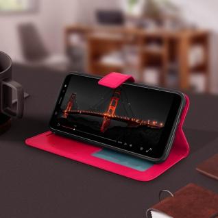 Flip Cover Stand Case Brieftasche & Standfunktion Samsung GalaxyA6 - Fuchsienrot - Vorschau 4