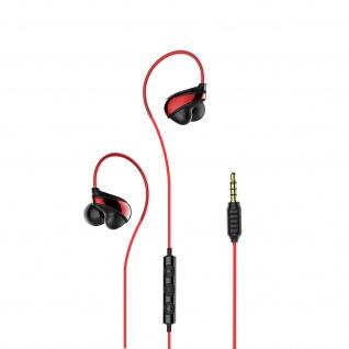Baseus 3.5 Klinkenstecker in-ear Kopfhörer mit Fernbedienung & Mikrofon - Rot