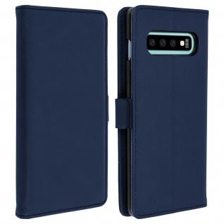 DZgogo Klappetui mit Kartenfach & Standfunktion Samsung Galaxy S10 Dunkelblau
