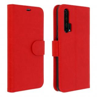 Flip Cover Geldbörse, Klappetui Kunstleder für Honor 20 Pro ? Rot