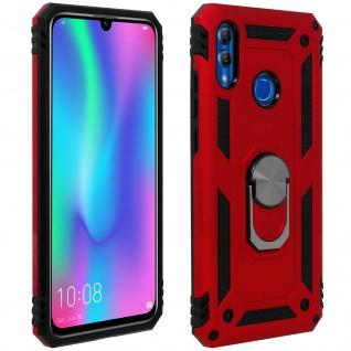 Hybrid Hülle mit Ring Halterung für Huawei P Smart 2019, Honor 10 Lite - Rot
