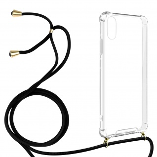 Handykette Handyhülle mit Halsband für Apple iPhone XR ? Transparent