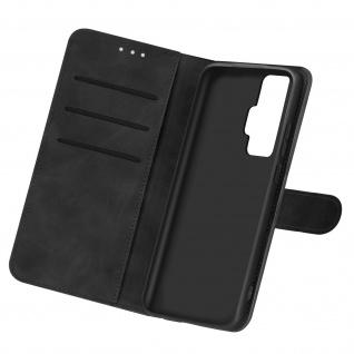 Kunstlederetui, Handyhülle mit Geldbörse für Vivo X51 5G - Schwarz