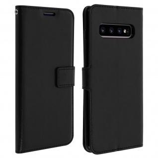 Flip Stand Cover Brieftasche & Standfunktion für Galaxy S10 Plus - Schwarz