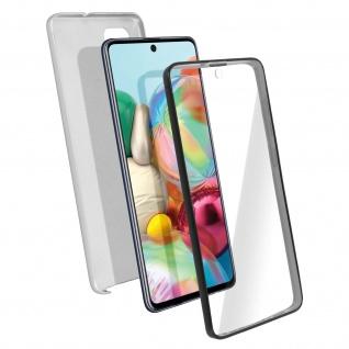 Schutzhülle für Samsung Galaxy A71, Vorder- + Rückseite ? Silber