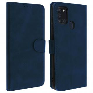 Flip Stand Case Brieftasche & Standfunktion für Samsung Galaxy A21s - Dunkelblau