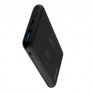 4Smarts VoltHub Wireless 10000 mAh Universal schwarze QI/USB/USB-C Powerbank