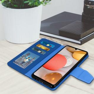 Samsung Galaxy A42 5G Klapphülle mit Portemonnaie - Blau - Vorschau 3