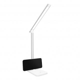 LED-Schreibtischlampe mit Standfunktion USB-Ladeanschluss - Weiß