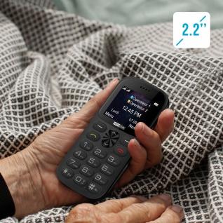 Senior Handy Dual Sim SOS-Taste 1400mAh 14Std. Akkulaufzeit MM471 Maxcom - Grau - Vorschau 4