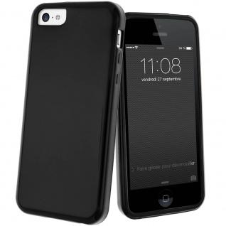 Schutzhülle aus Silikon für Apple iPhone 5C - Schwarz