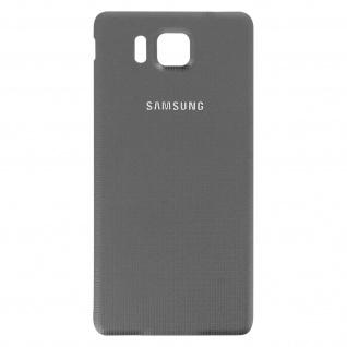 Ersatzteil Akkudeckel, neue Rückseite für Samsung Galaxy Alpha - Grau - Vorschau 2