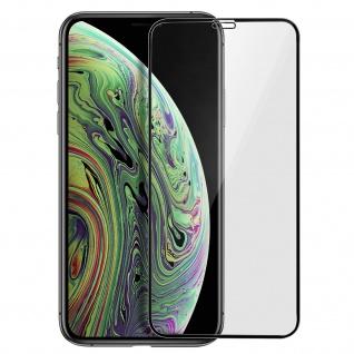 Premium Panzerglas Schutzfolie für Apple iPhone X / XS - Rand Schwarz