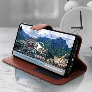 Flip Stand Cover Brieftasche & Standfunktion für Samsung Galaxy S10 Plus - Braun - Vorschau 4
