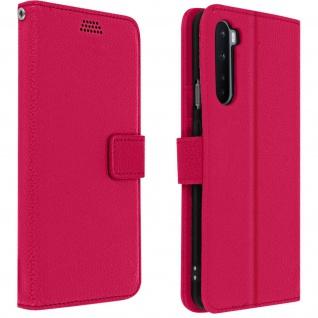 OnePlus Nord Flip-Cover mit Kartenfächern & Standfunktion - Rosa