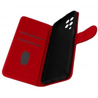 Klappetui mit Geldbörse, Kunstlederhülle für Samsung Galaxy M12 ? Rot