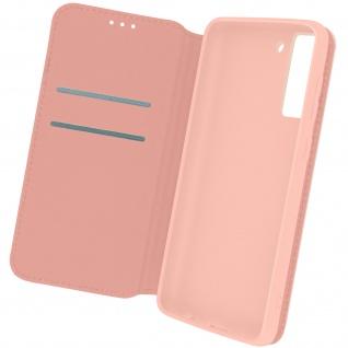 Kunstleder Cover Classic Edition, Klappetui für Samsung S21 FE ? Rosegold
