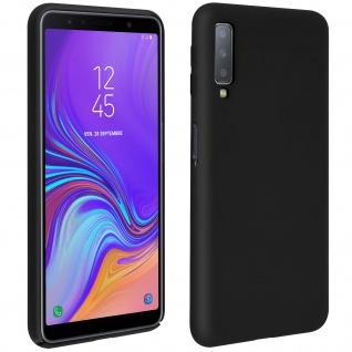 Samsung Galaxy A7 2018 Soft Touch kratzfeste Silikonhülle, soft case - Schwarz
