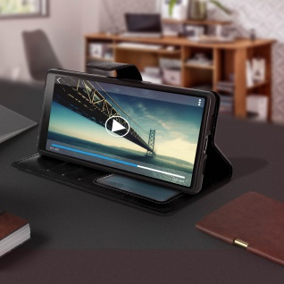 Flip Stand Cover Brieftasche & Standfunktion für Sony Xperia 10 - Schwarz - Vorschau 4