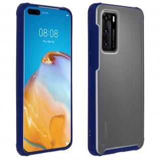 Stoßfeste Handyhülle, Milchglas Rückseite für Huawei P40 - Dunkelblau