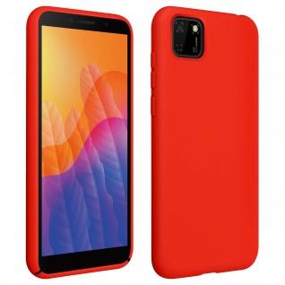 Halbsteife Silikon Handyhülle Huawei Y5p, Soft Touch - Rot
