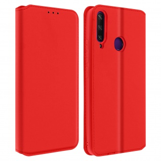 Kunstleder Cover Classic Edition Huawei Y6p - Rot