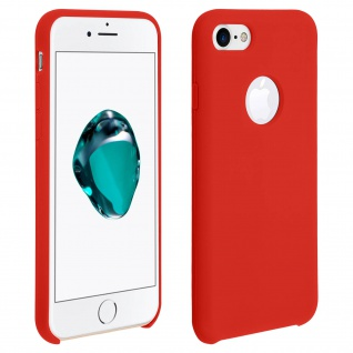 Apple iPhone 7, iPhone 8 stoßfeste Soft Touch Schutzhülle - Rot