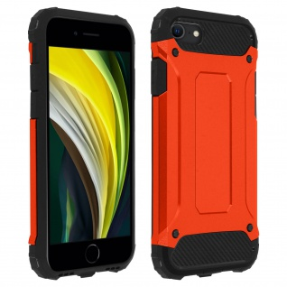 Defender II schockresistente Schutzhülle iPhone 7 / 8 / SE 2020 - Rot