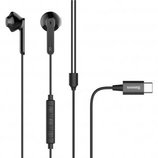Baseus USB-C in-ear Kopfhörer mit Fernbedienung und Mikrofon - Schwarz