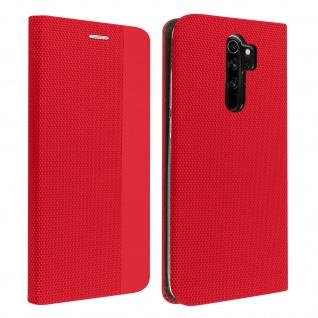 Soft Touch Stoffhülle mit Standfunktion für Xiaomi Redmi Note 8 Pro ? Rot