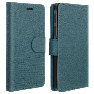 Universal Klapphülle, Etui mit Geldbörse für Smartphones Größe XXL - Blau