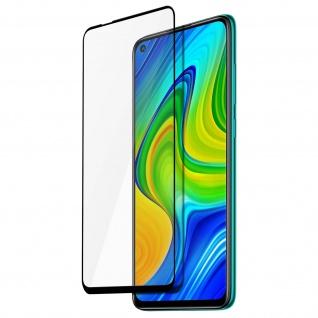 9H Härtegrad Displayschutzfolie Xiaomi Redmi Note 9 â€? Rand Schwarz