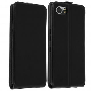 Vertikale Flip-Schutzhülle ultradünn für BlackBerry Keyone - Schwarz