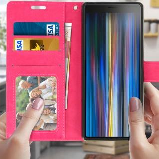 Flip Stand Cover Brieftasche & Standfunktion für Sony Xperia 10 - Rosa - Vorschau 3