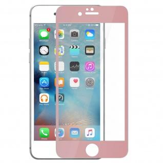 Bruchsichere Glas Displayschutzfolie voller Schutz für iPhone 6 / 6S - Rand Rosa