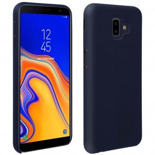 Halbsteife Silikon Handyhülle Galaxy J6 +, Soft Touch - Dunkelblau