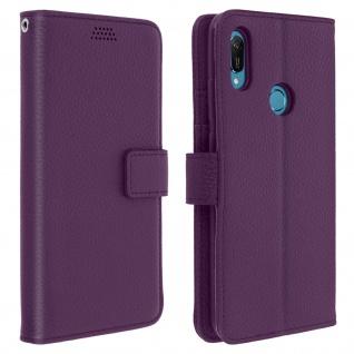 Huawei Y6 2019 Flip-Cover mit Kartenfächern & Standfunktion â€? Violett