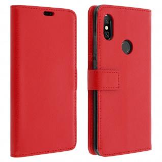 Xiaomi Redmi Note 6 Pro Flip-Cover mit Kartenfächern & Standfunktion - Rot