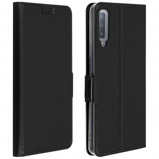 Flip Cover, Klappetui mit Kartenfach & Standfunktion für Galaxy A7 2018 Schwarz
