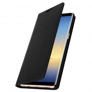 Business Leder Cover, Schutzhülle mit Geldbörse für Galaxy Note 8 - Schwarz