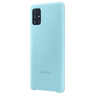 Original Samsung Soft Touch Cover Silikon für Samsung Galaxy A51 - Türkisblau